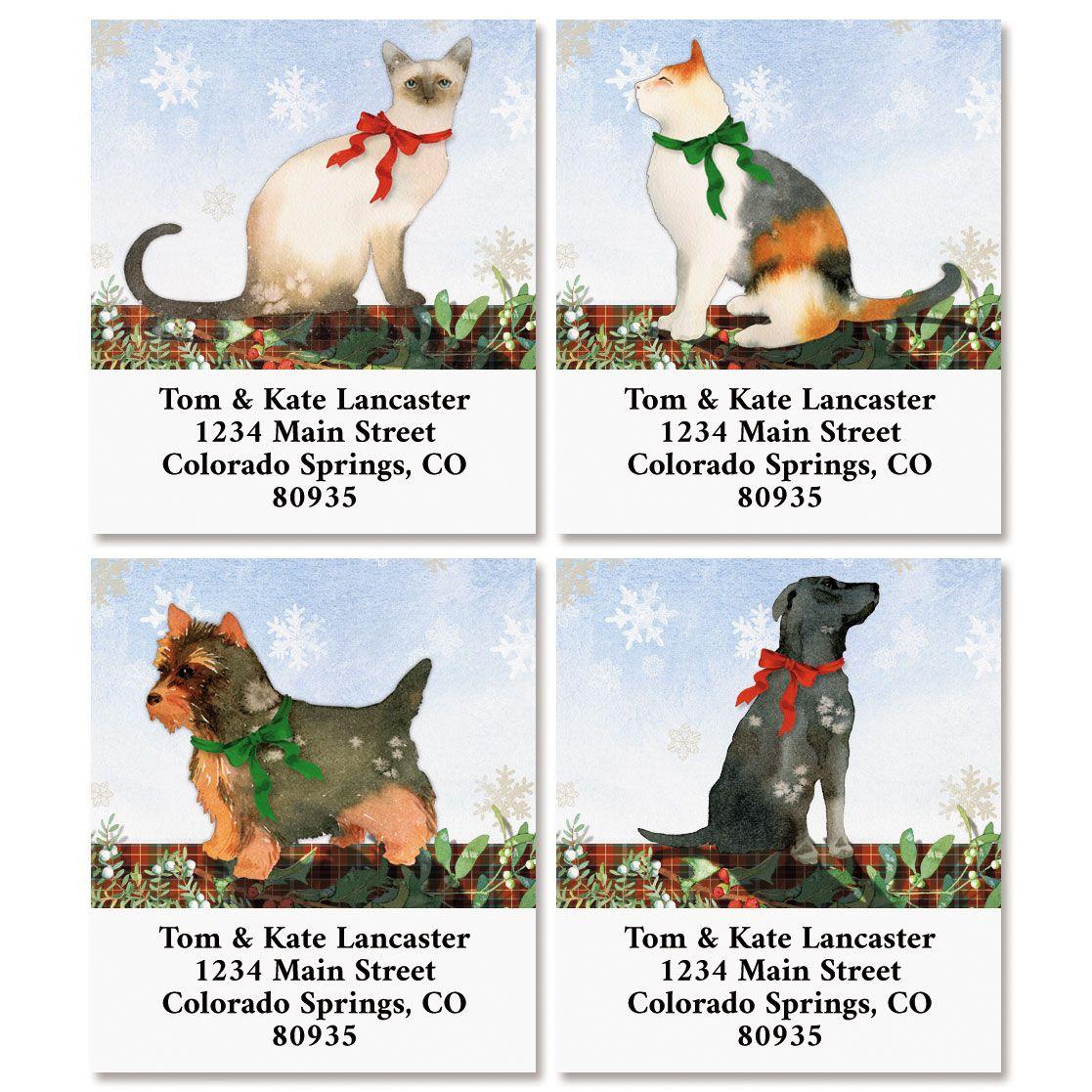 Christmas Pets Select Return Address Labels (4 Designs)