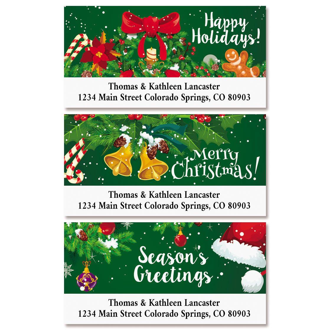 Merry Delight Deluxe Return Address Labels (3 Designs)