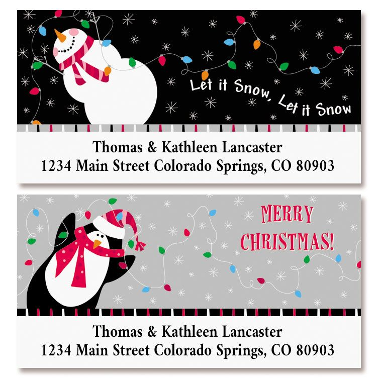 Candy Stripes Deluxe Address Labels