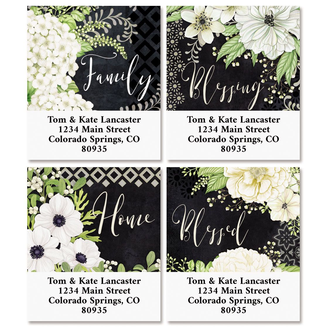 Simply Blessed Select Return Address Labels (4 Designs)