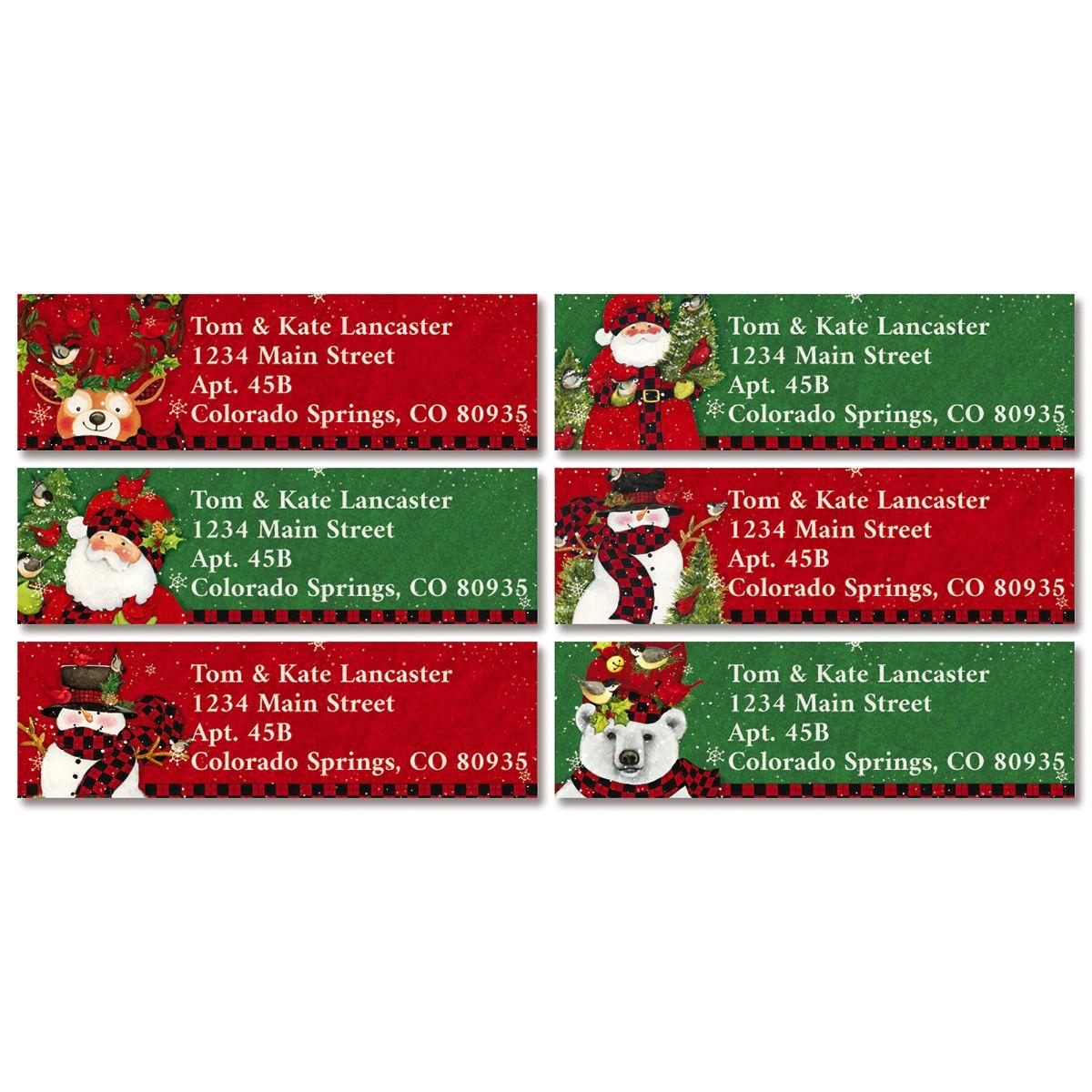 Tall Hat Christmas Classic Return Address Labels (6 Designs)