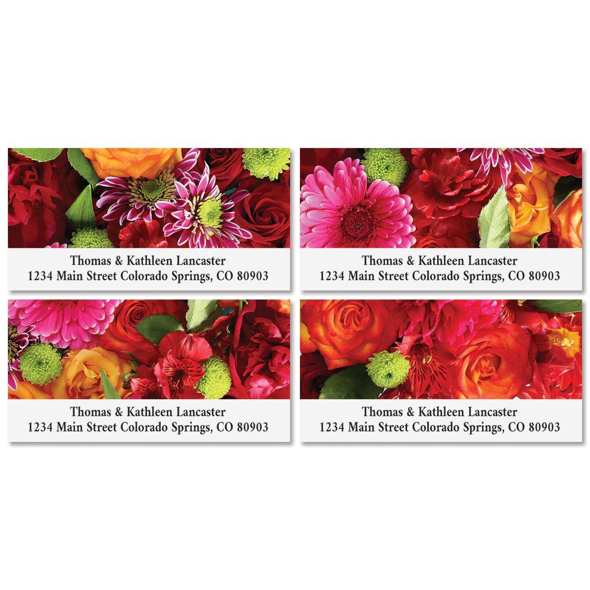 Spring Bouquet Deluxe Return Address Labels (8 Designs)