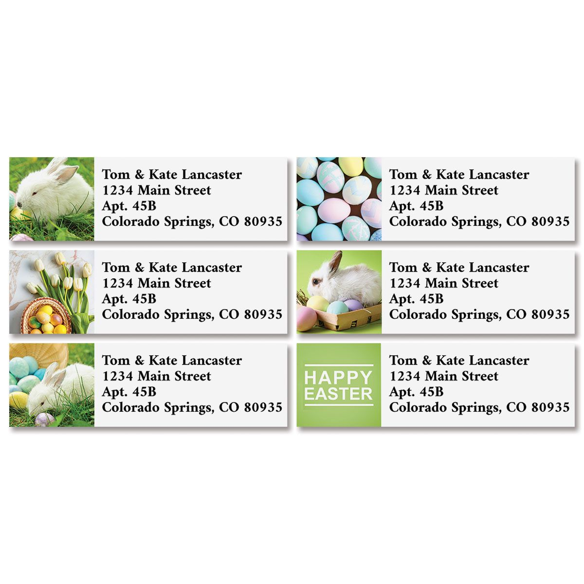 Happy Easter Classic Return Address Labels (6 Designs)