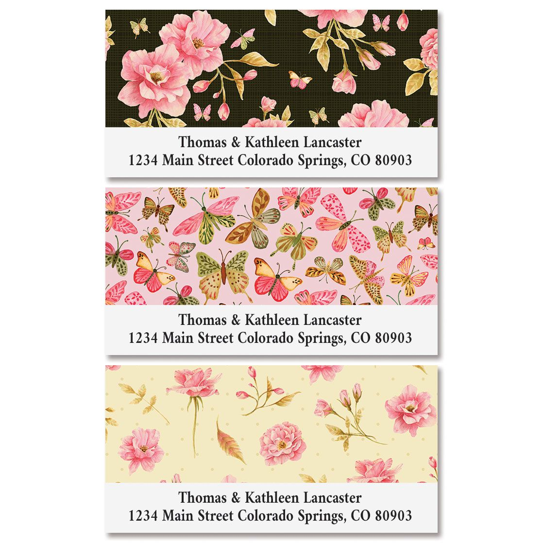 Wild Roses Deluxe Return Address Labels (3 Designs)