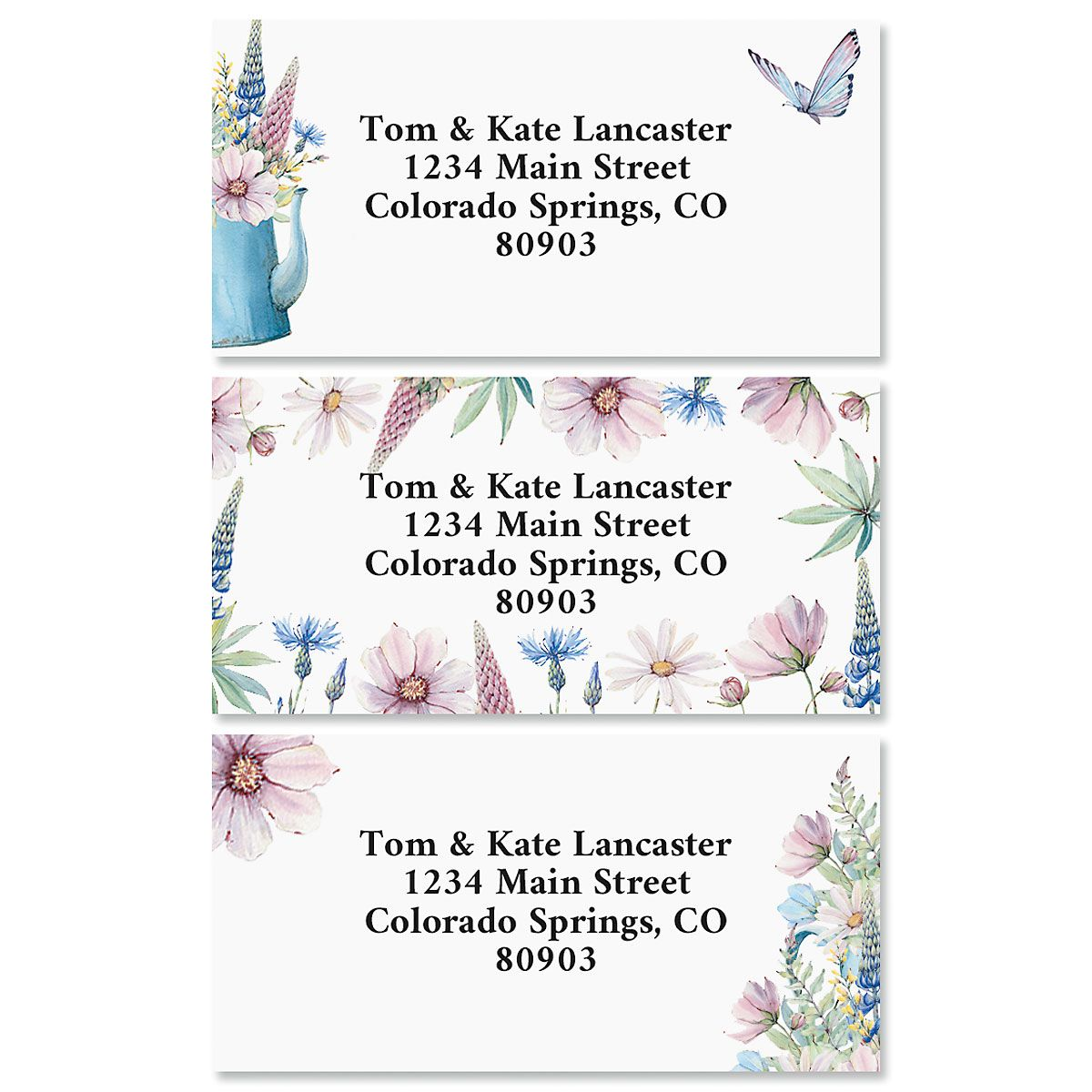Spring Kettle Border Return Address Labels (3 Designs)