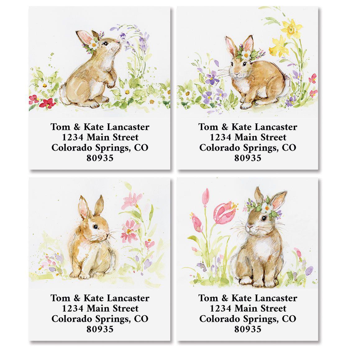 Brown Bunny Select Return Address Labels (4 Designs)