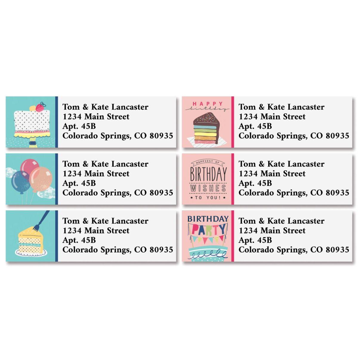 Birthday Party Classic Return Address Labels (6 Designs)