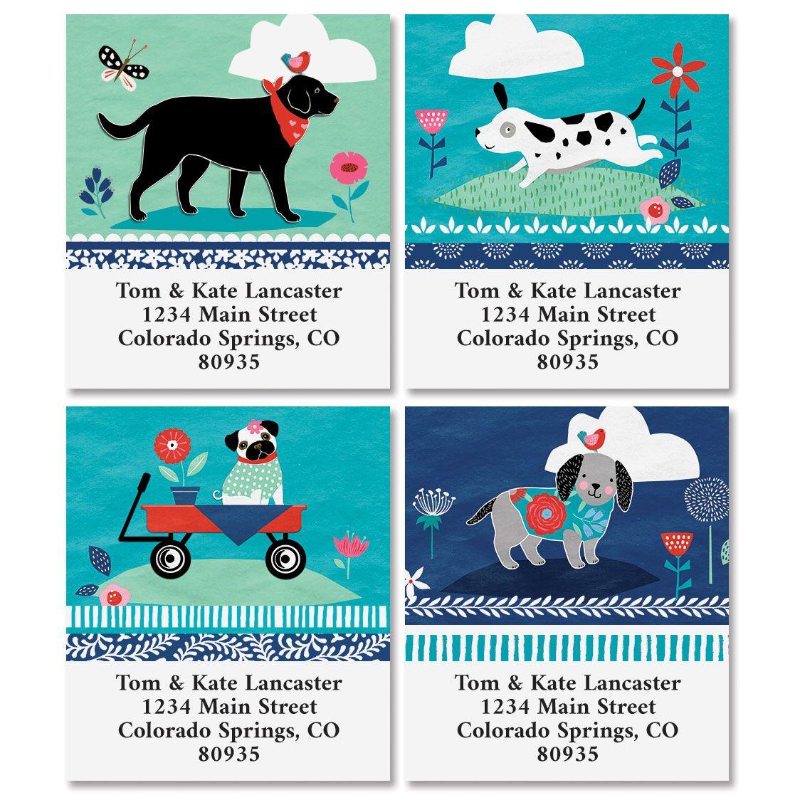 Dog Treats Select Return Address Labels (4 Designs)