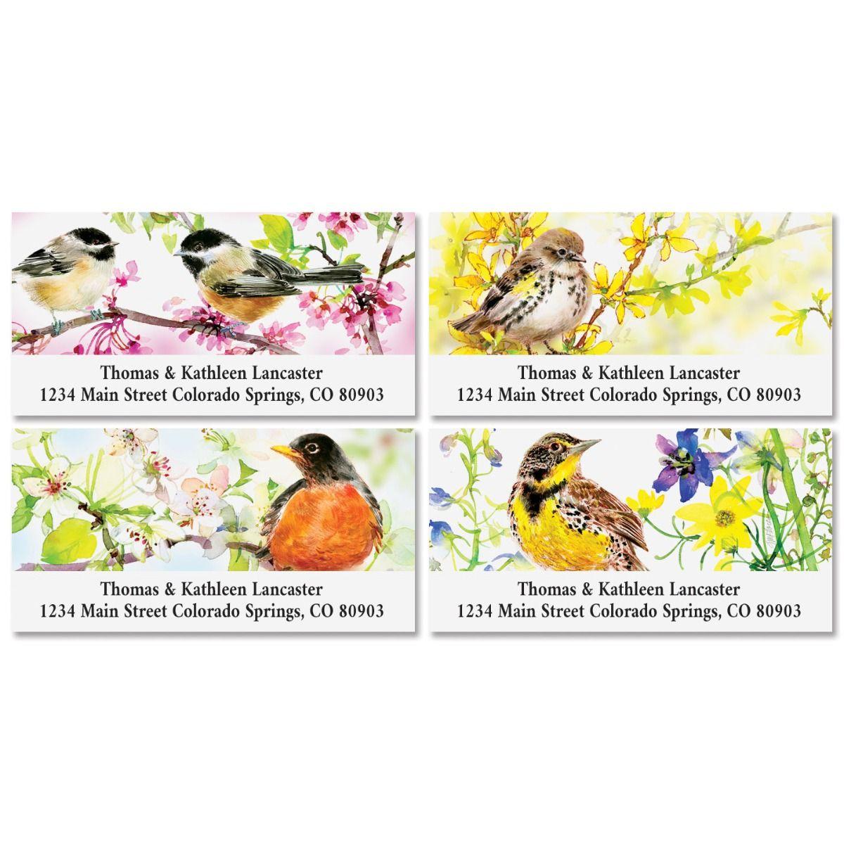 Summer Birds Deluxe Return Address Labels (4 Designs)