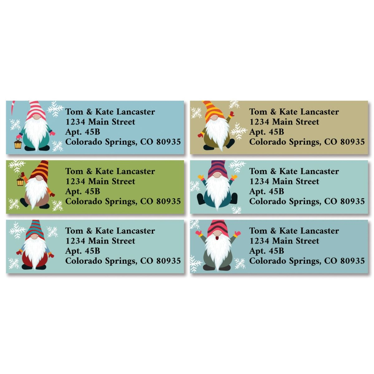 Christmas Gnomes Classic Return Address Labels (6 Designs)
