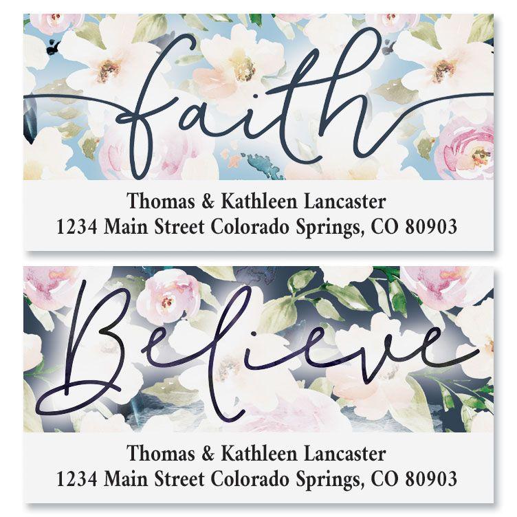 Floral Faith Deluxe Return Address Labels (2 Designs)