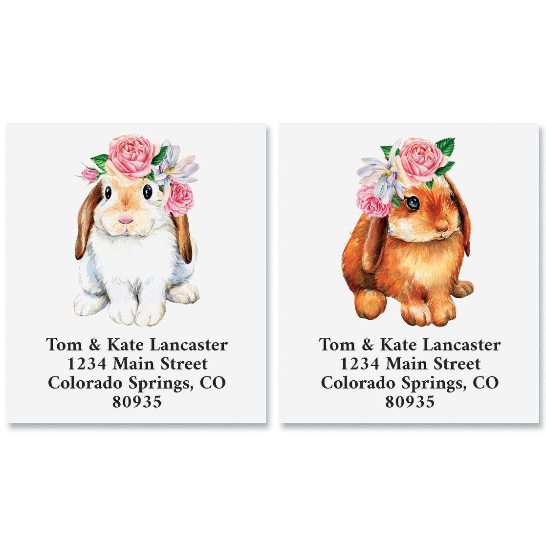 Spring Bunnies Select Return Address Labels (2 Designs)