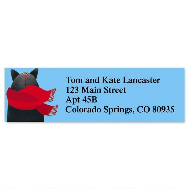 Linnea's Year-Round Cats Classic Return Address Labels  (12 Designs)
