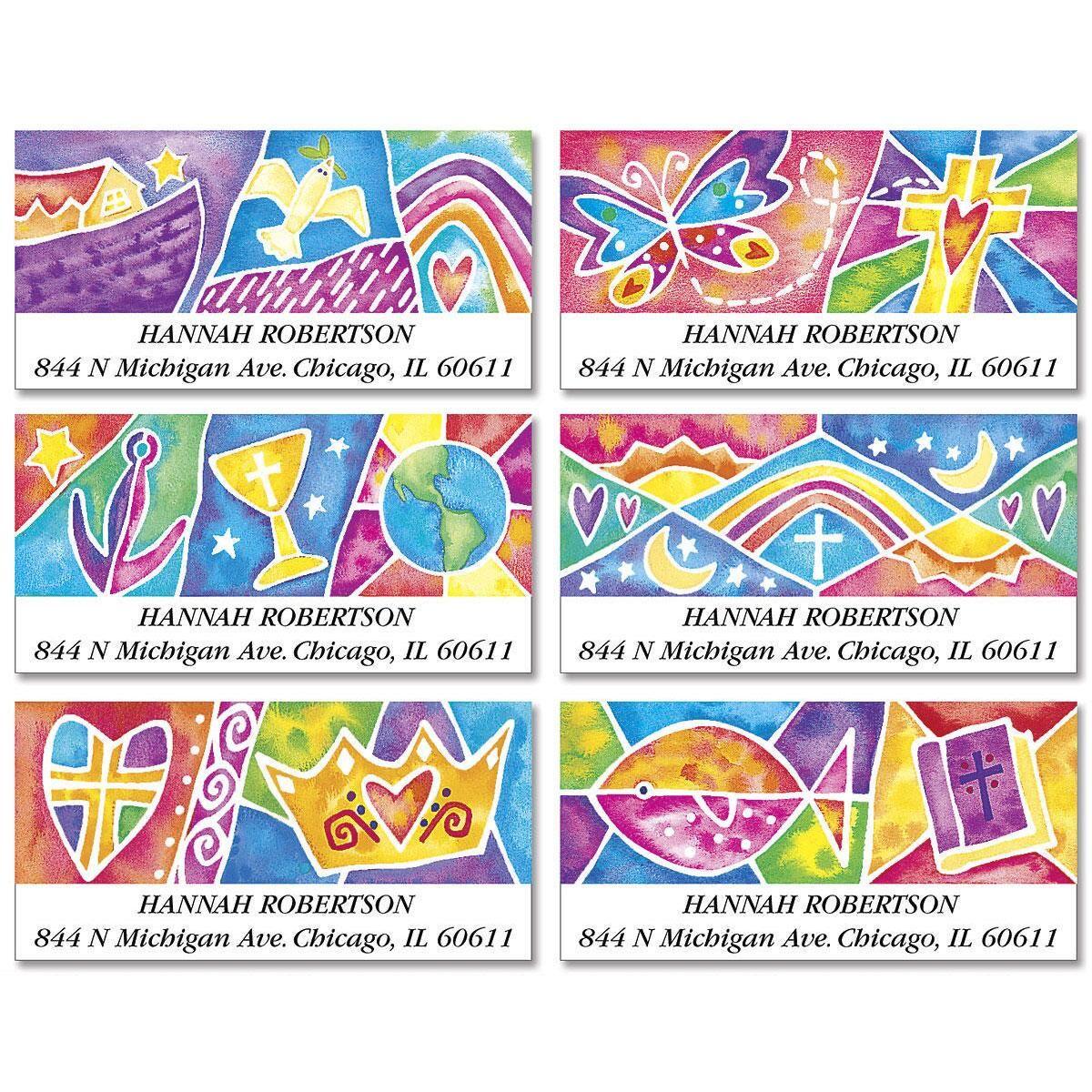 Christian Spirit Deluxe Return Address Labels  (6 Designs)