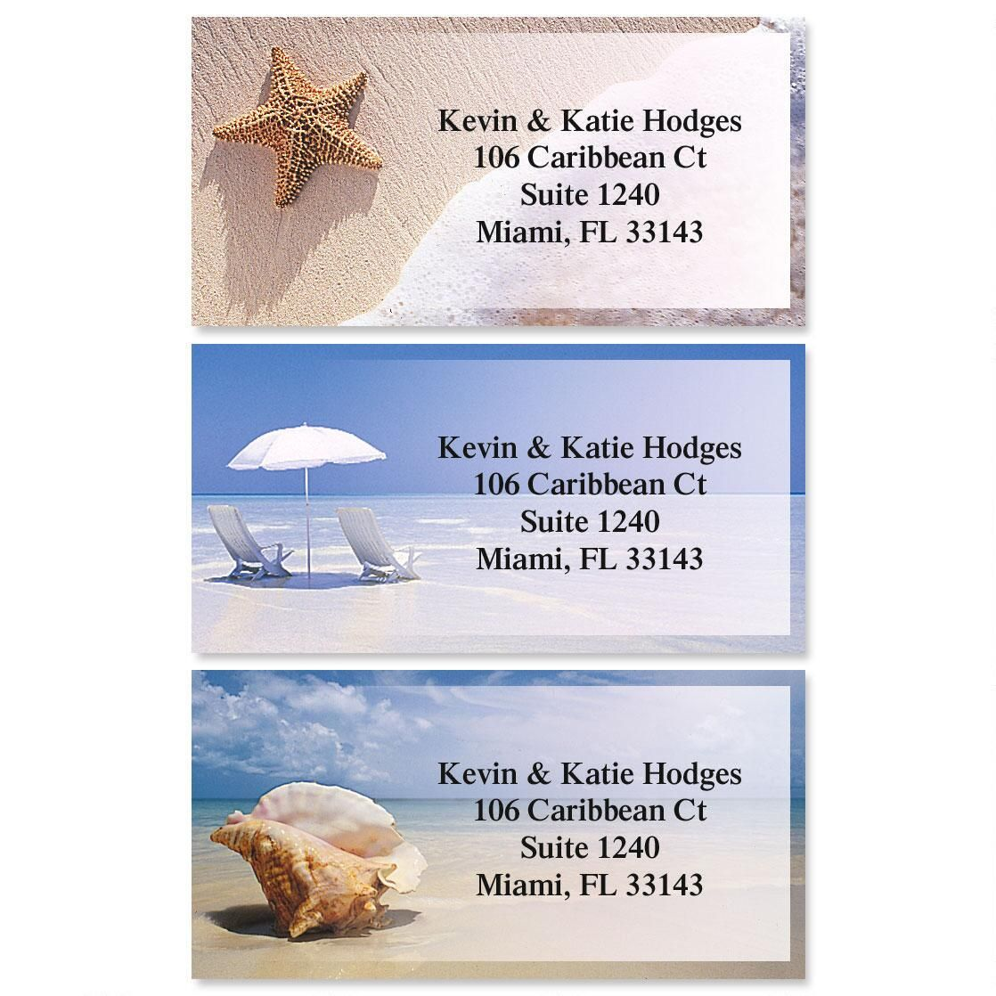 On The Shore Border Return Address Labels (3 Designs)