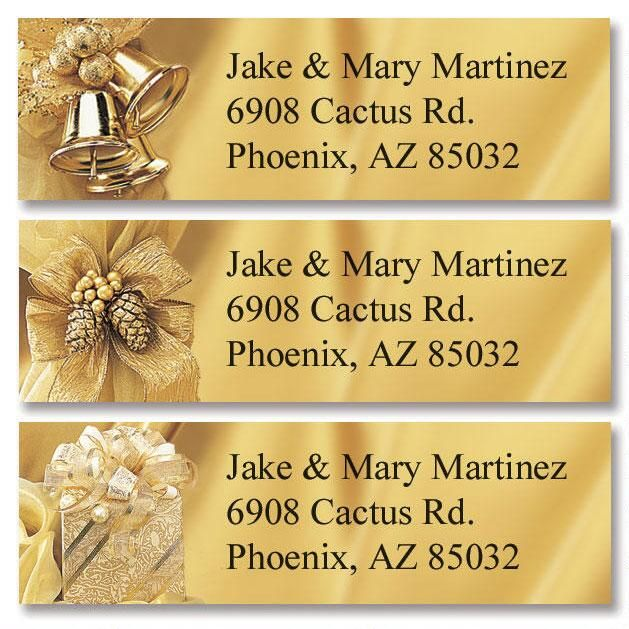 Golden Trimmings Classic Return Address Labels  (3 Designs)
