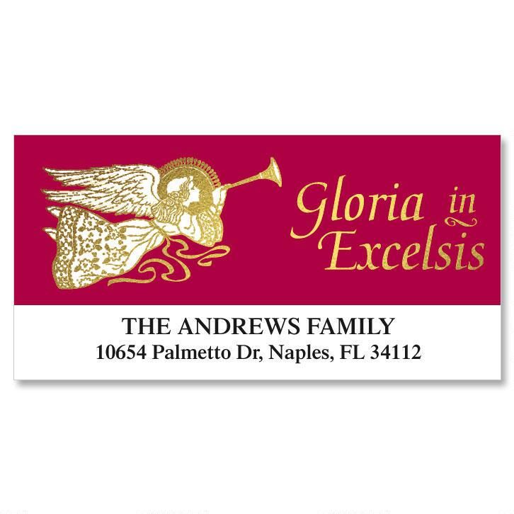 Golden Glory Foil Deluxe Address Labels  (6 Designs)