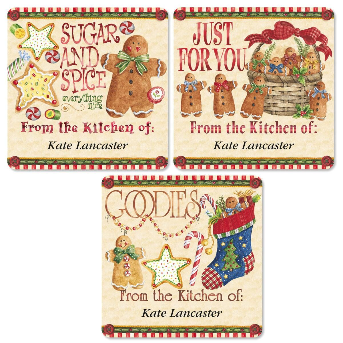 Vicky's Christmas Kitchen Goodie Labels   (3 Designs)