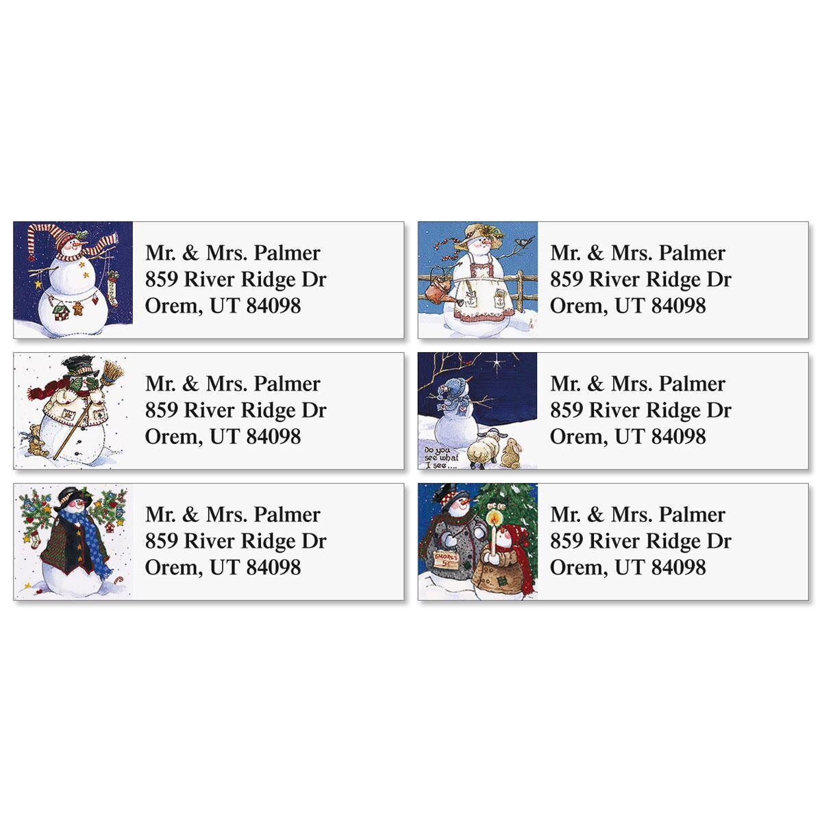 Sandi's Snowmen Collection  Classic Return Address Labels  (6 designs)