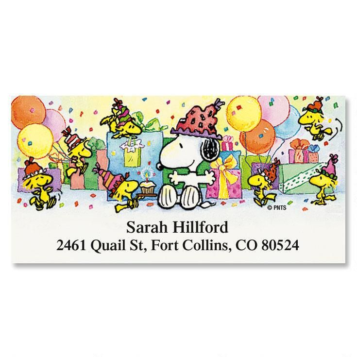 SNOOPY's™ Year-Round  Deluxe Address Labels  (12 Designs)