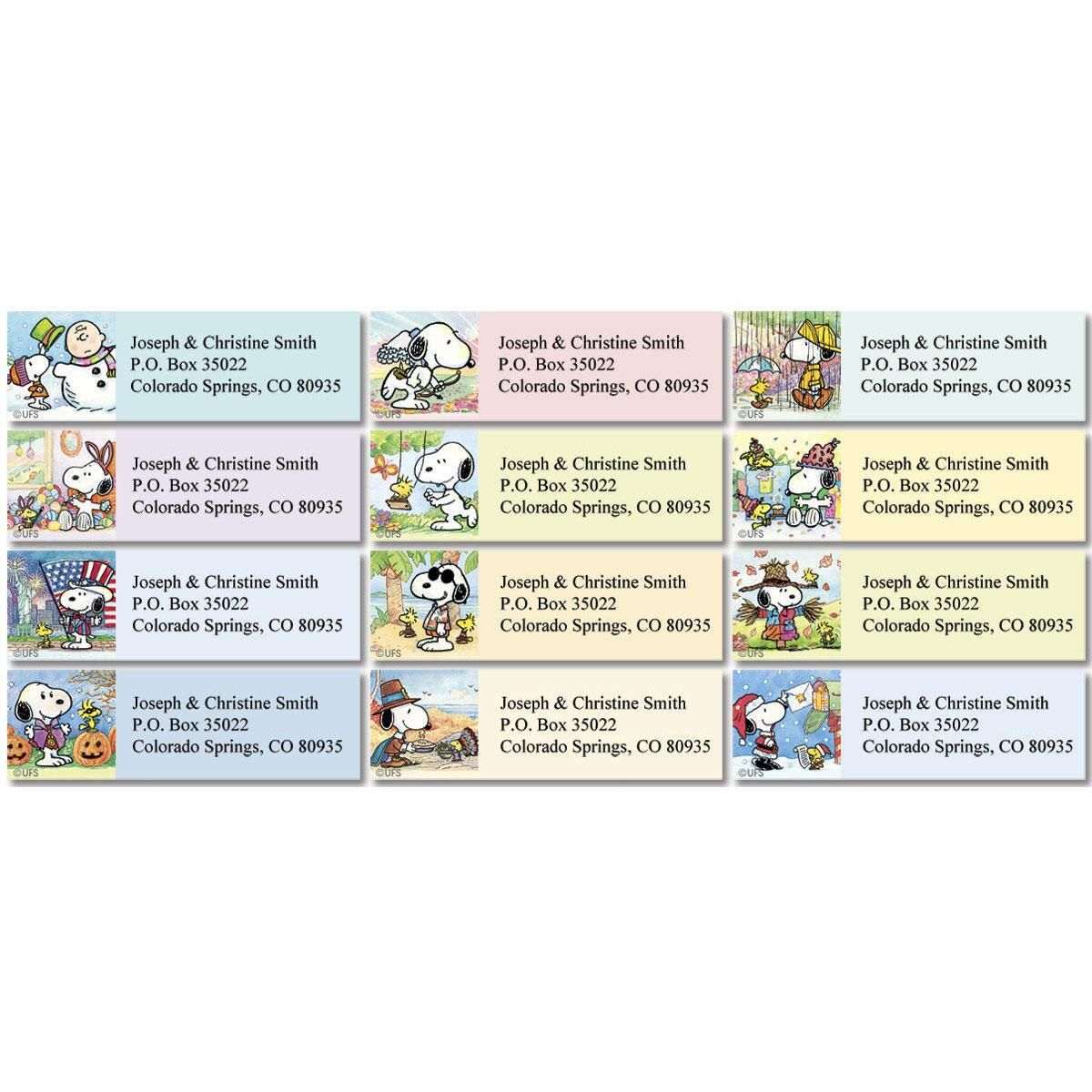 Snoopy™ Year-Round Classic Return Address Labels  (12 Designs)