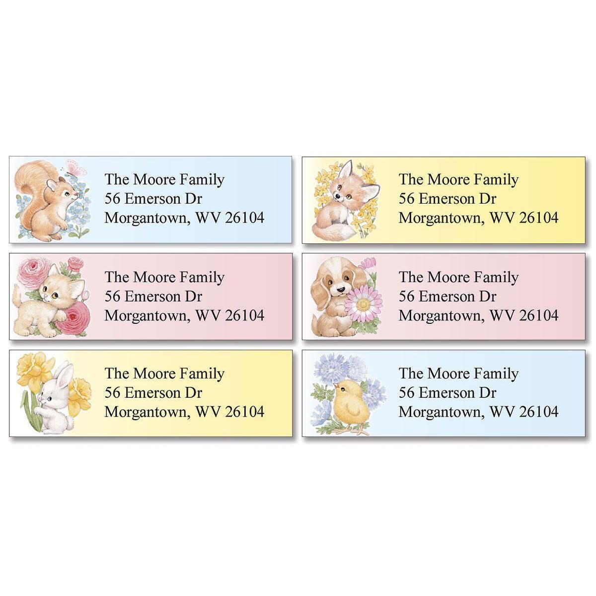 Baby Animals Classic Return Address Labels  (6 Designs)