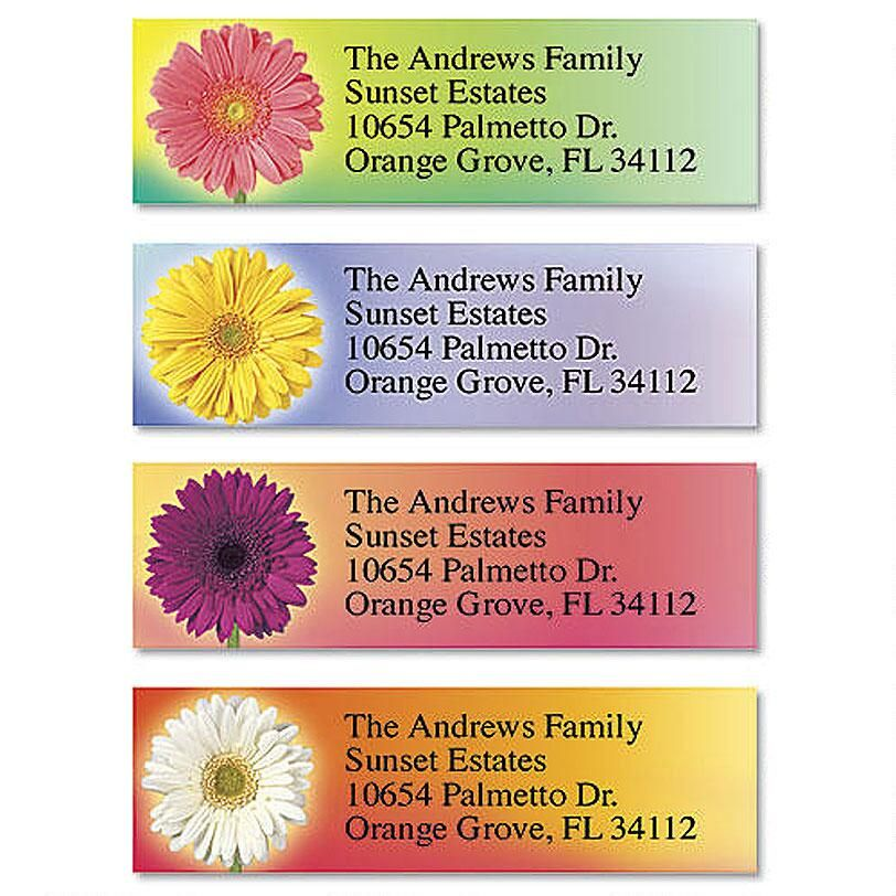 Illuminated Petals Classic Return Address Labels  (4 Designs)