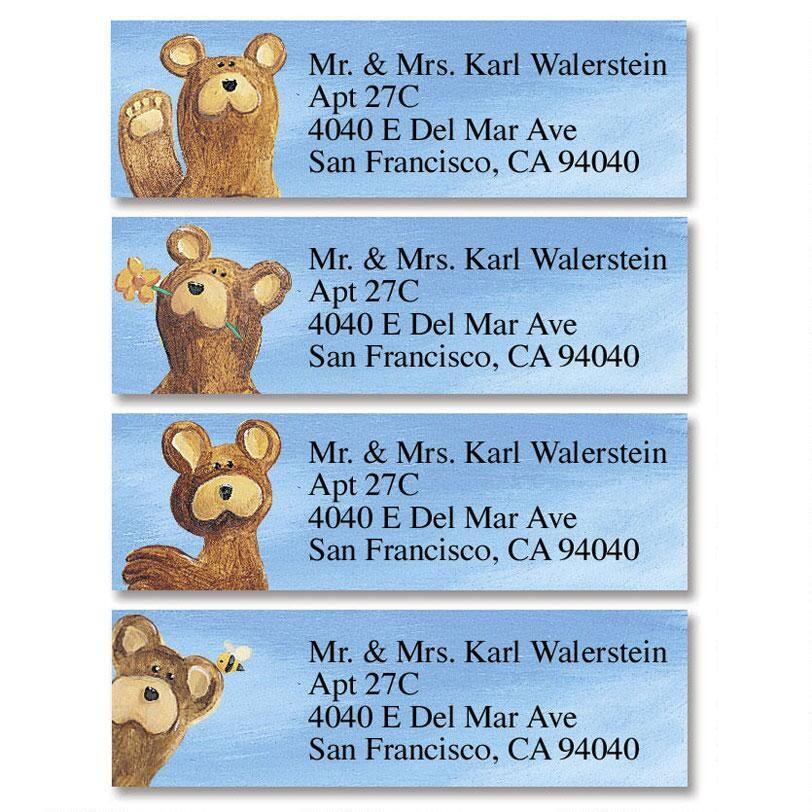 Bear Lodge Buddies Classic Return Address Labels  (4 Designs)