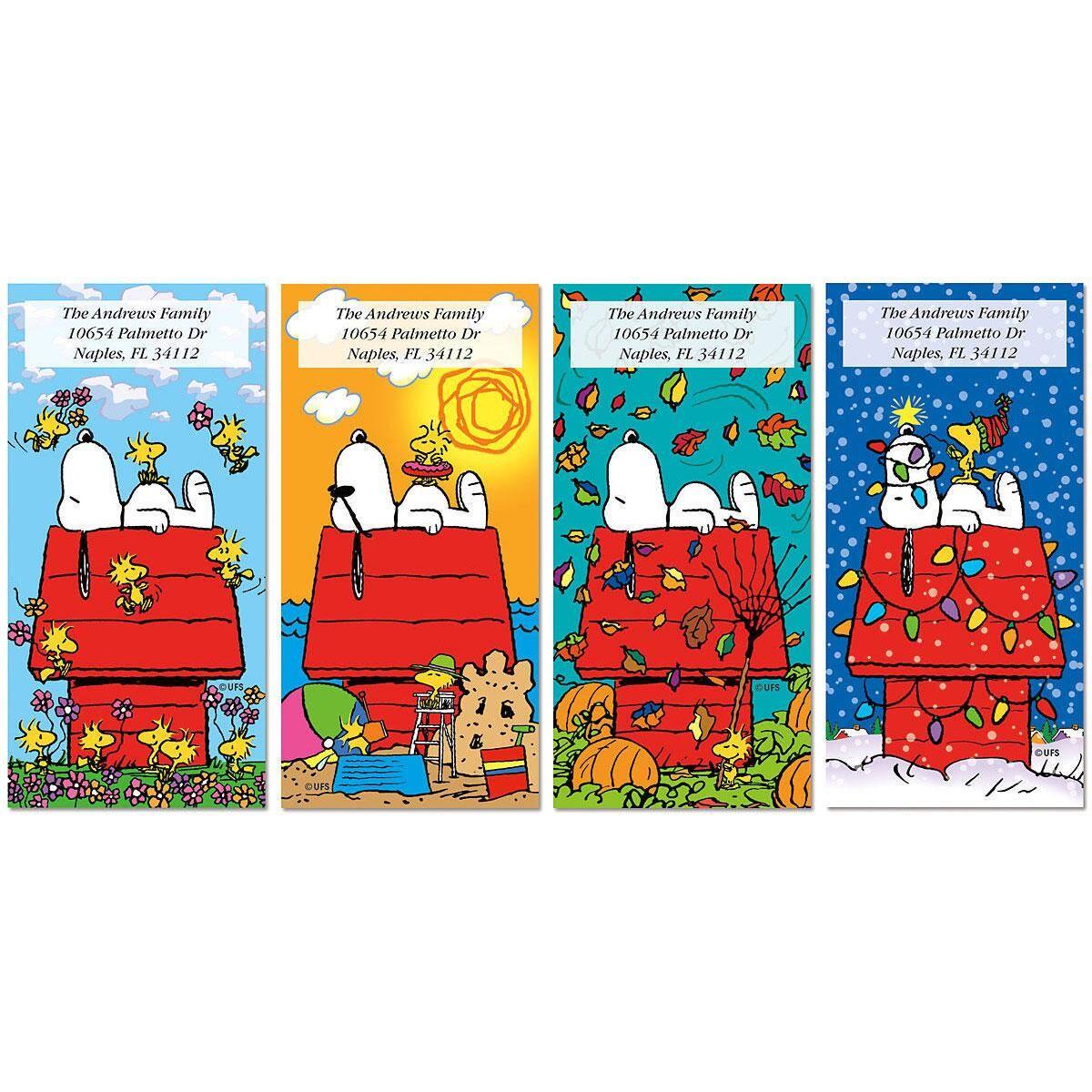 Snoopy™ 4 Seasons Oversized Return Address Labels  (4 Designs)