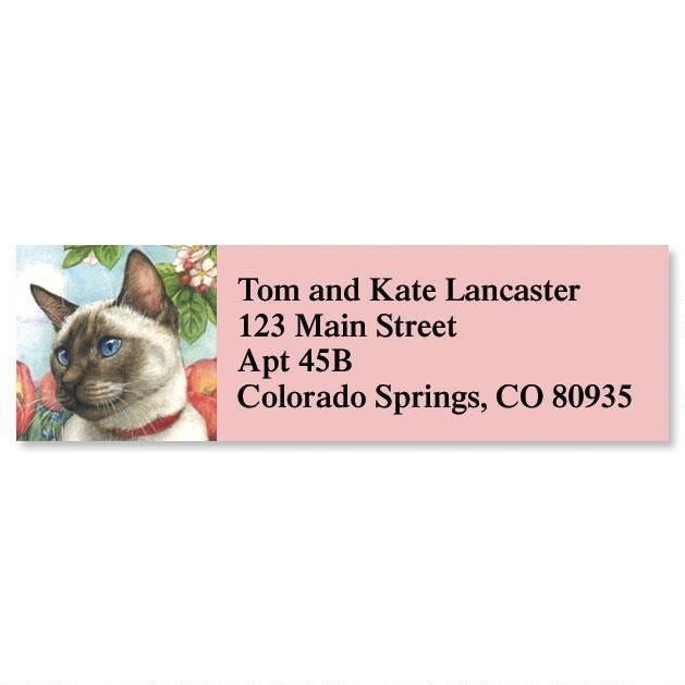 Feline Artistry Classic Return Address Labels  (6 Designs)