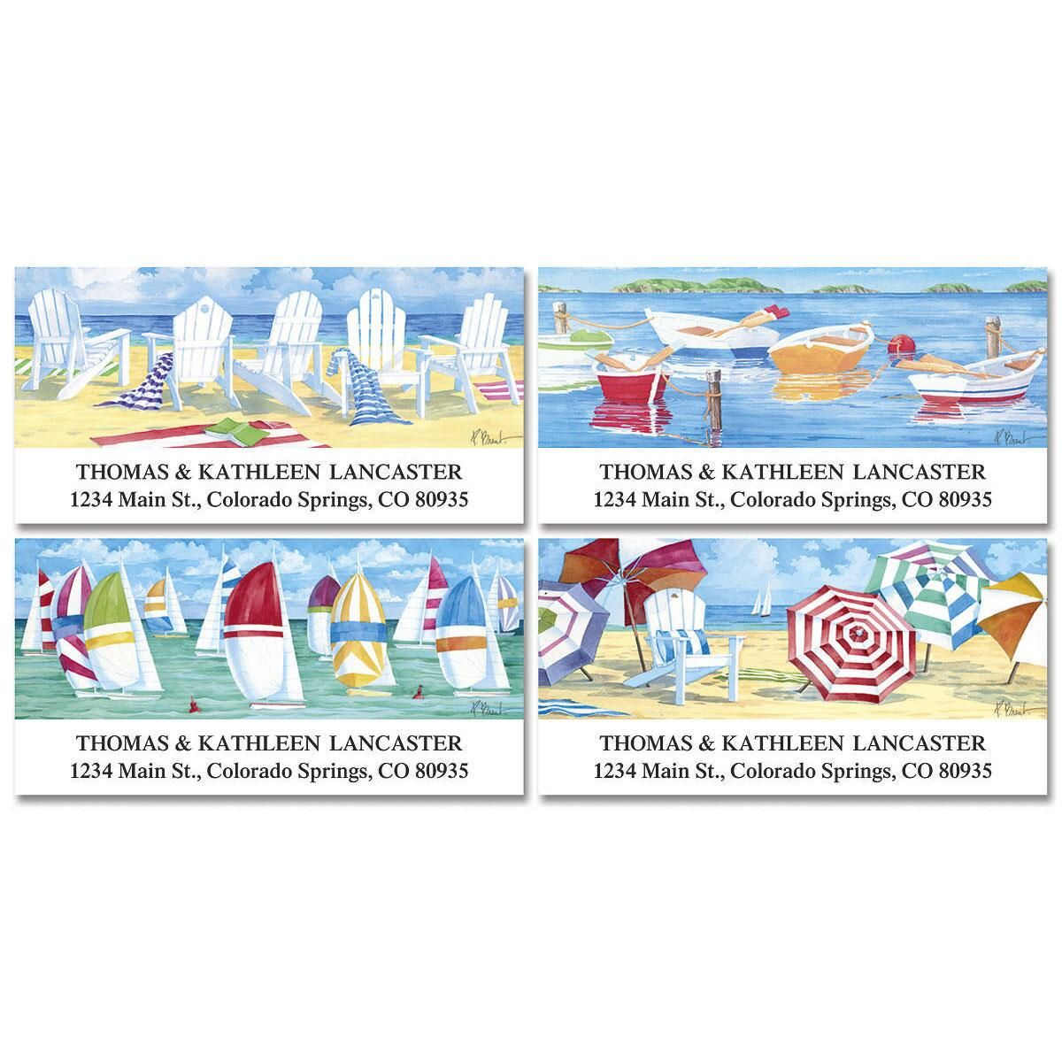 Water's Edge  Deluxe Address Labels   (4 Designs)