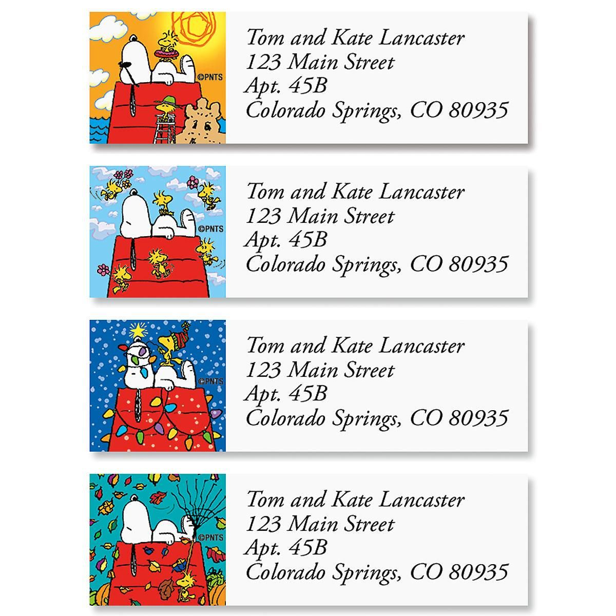 SNOOPY's™  Four Seasons Classic Address Labels  (4 Designs)