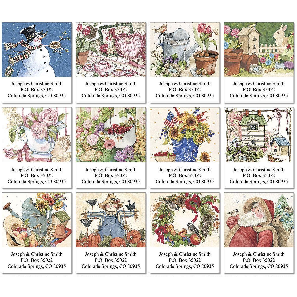 Sandi's Year-Round Select Address Labels  (12 Designs)