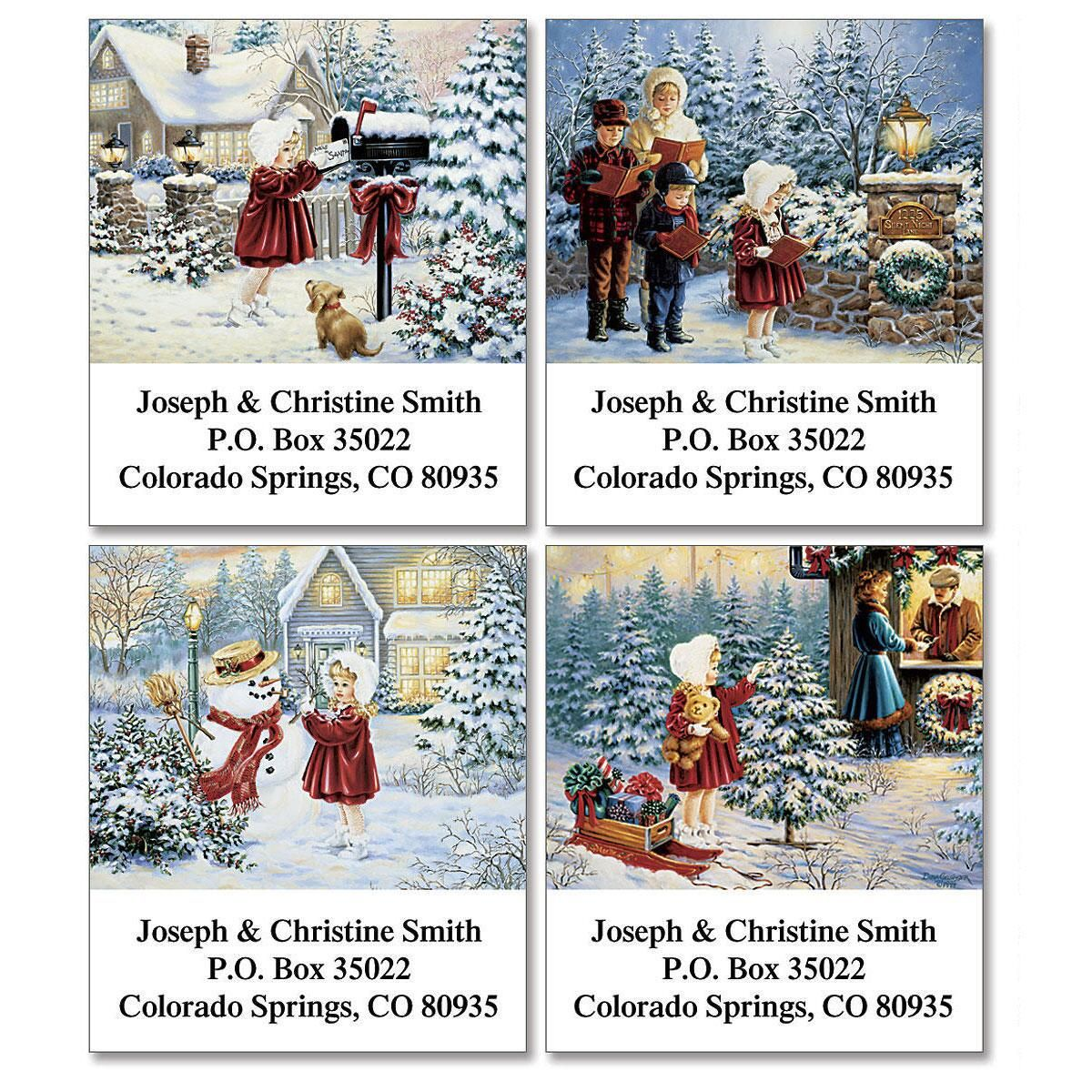 Noelle's Christmas Select Address Labels  (4 Designs)