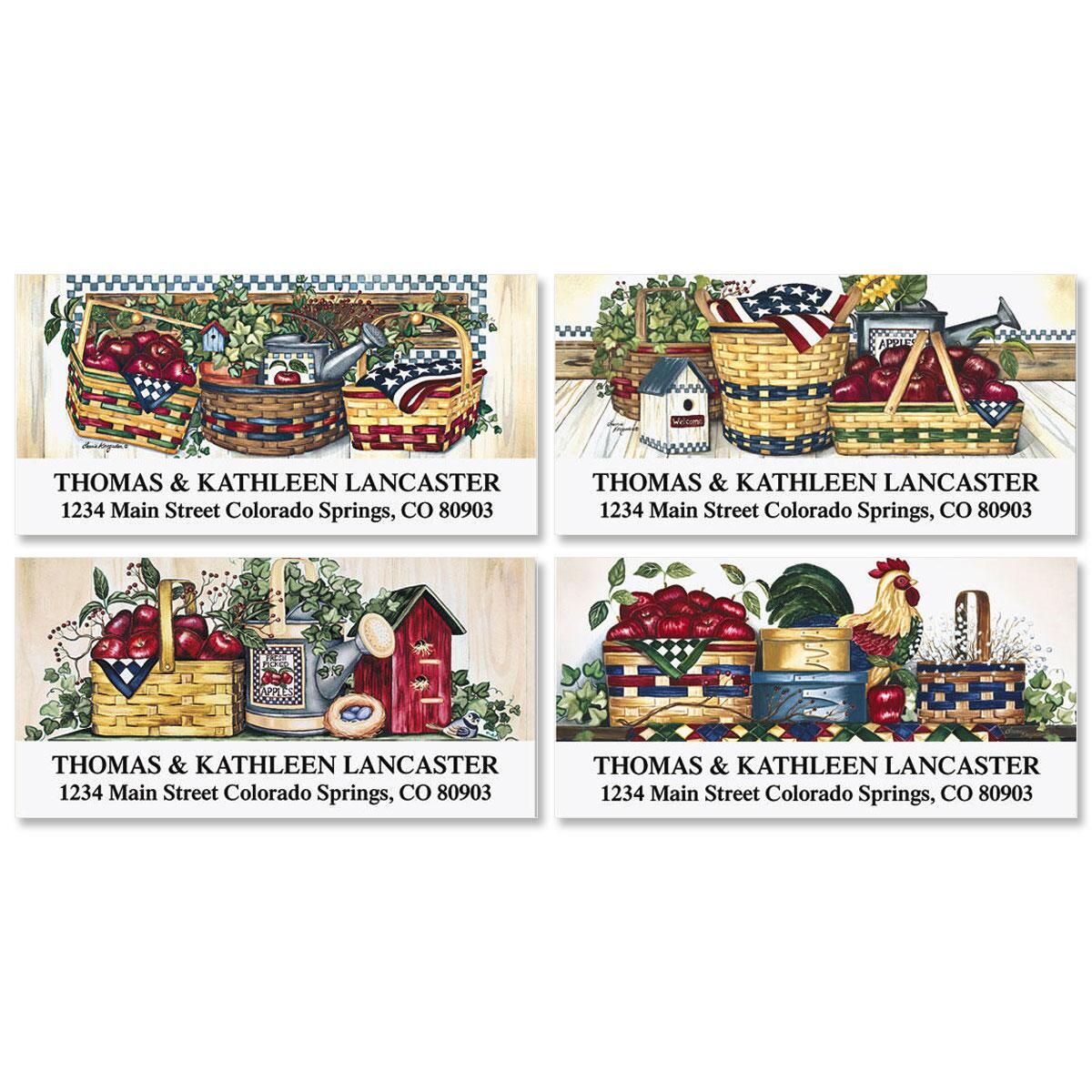 Apples & Baskets Deluxe Address Labels  (4 Designs)