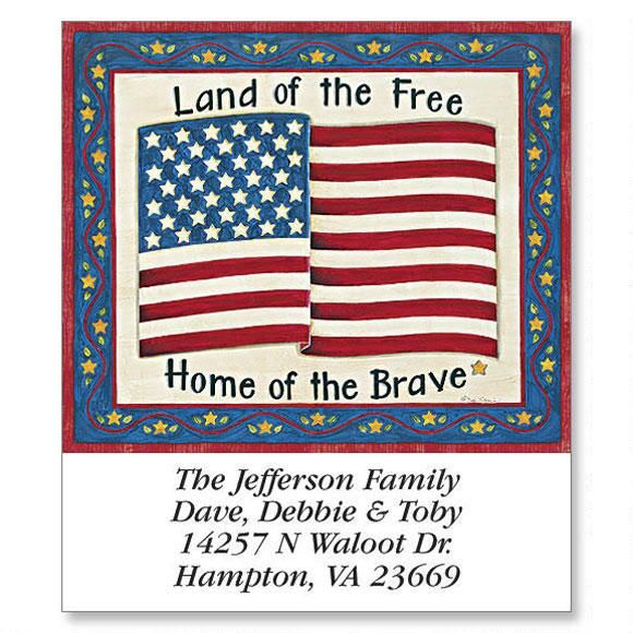 Deb's Land  of the Free Select Return Address Labels  (6 Designs)