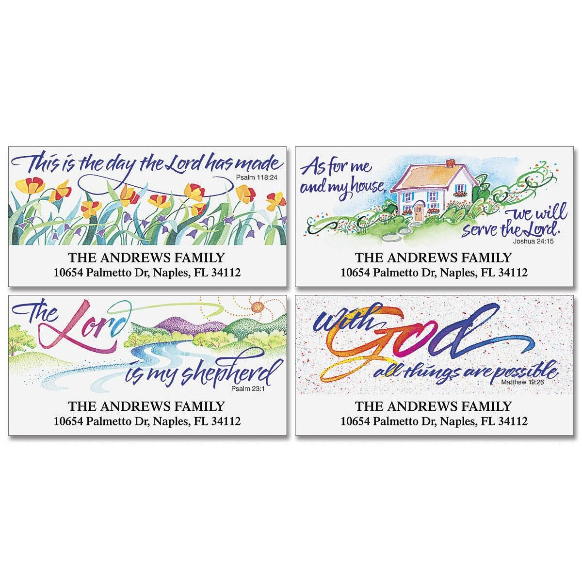 Verses of Virtue Deluxe Return Address Labels  (4 Designs)
