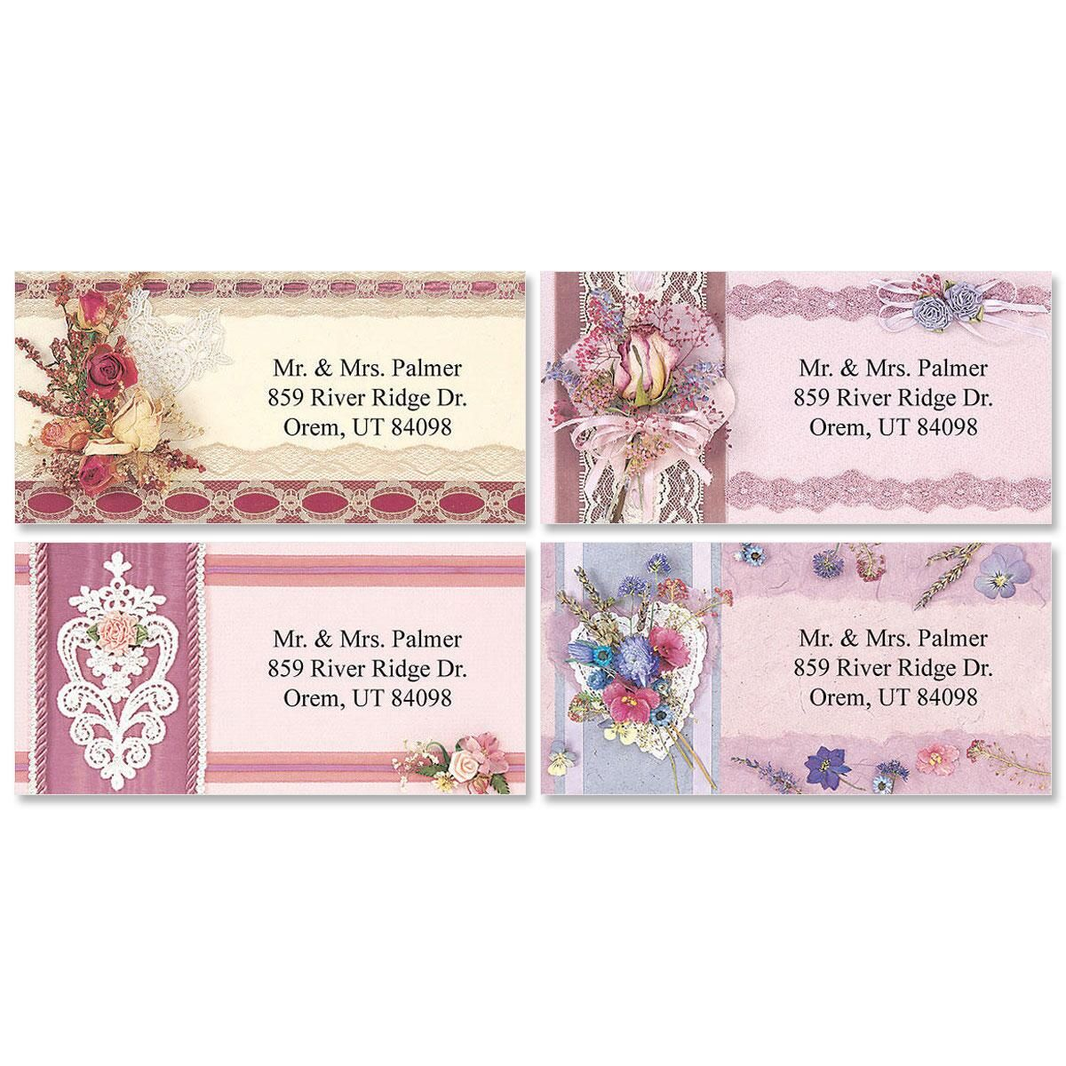 Keepsake Collage Border Address Labels  (4 Designs)