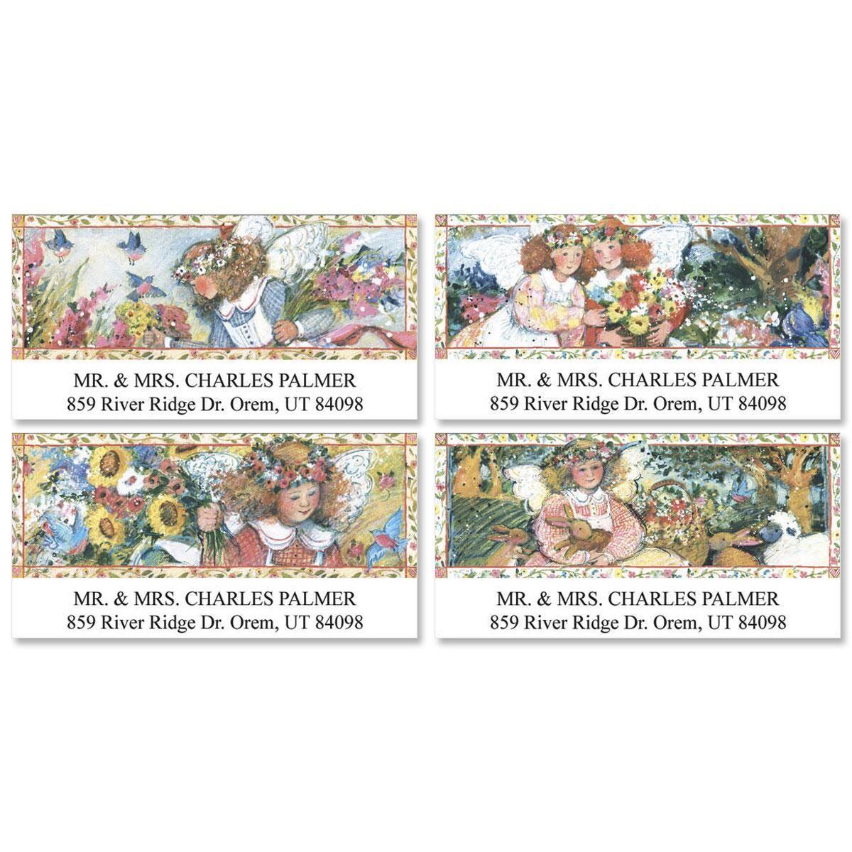 Sent From Heaven  Deluxe Return Address Labels  (4 Designs)
