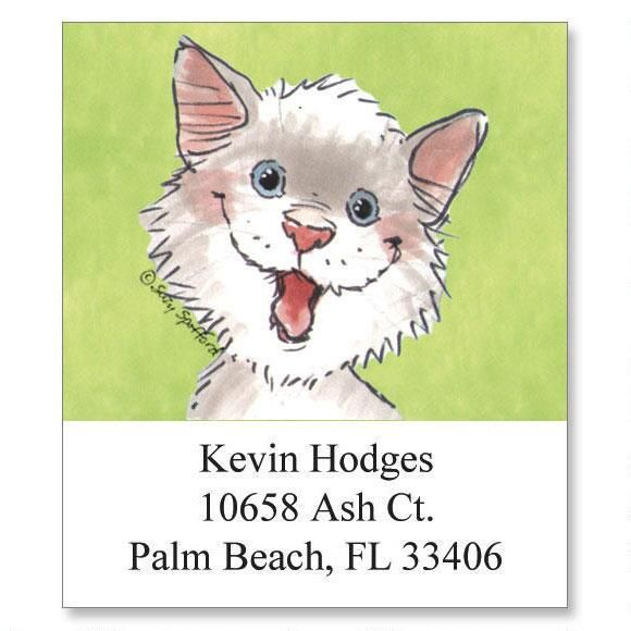 Whiskers Select Return Address Labels   (6 Designs)