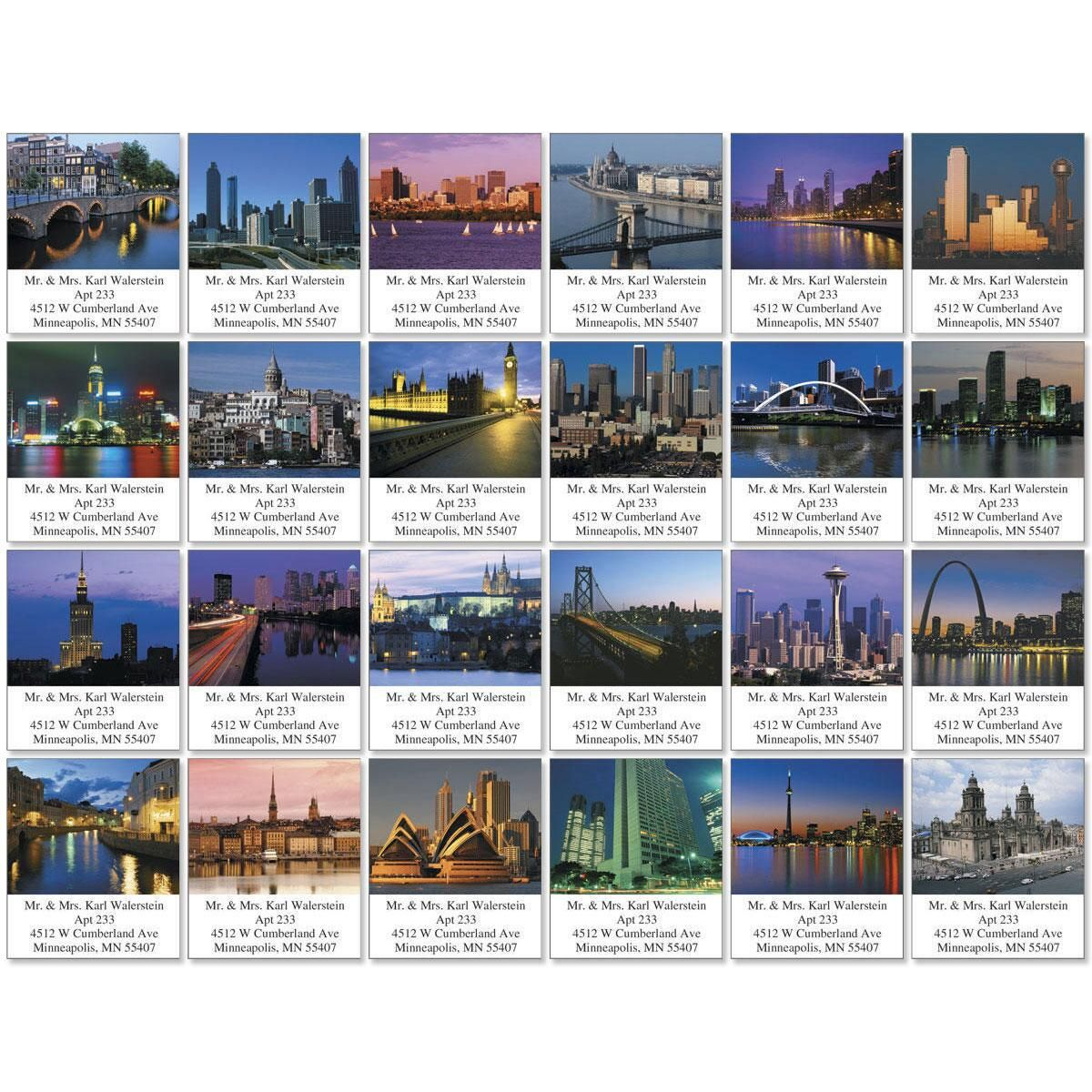 Cityscapes Select Address Labels  (24 Designs)