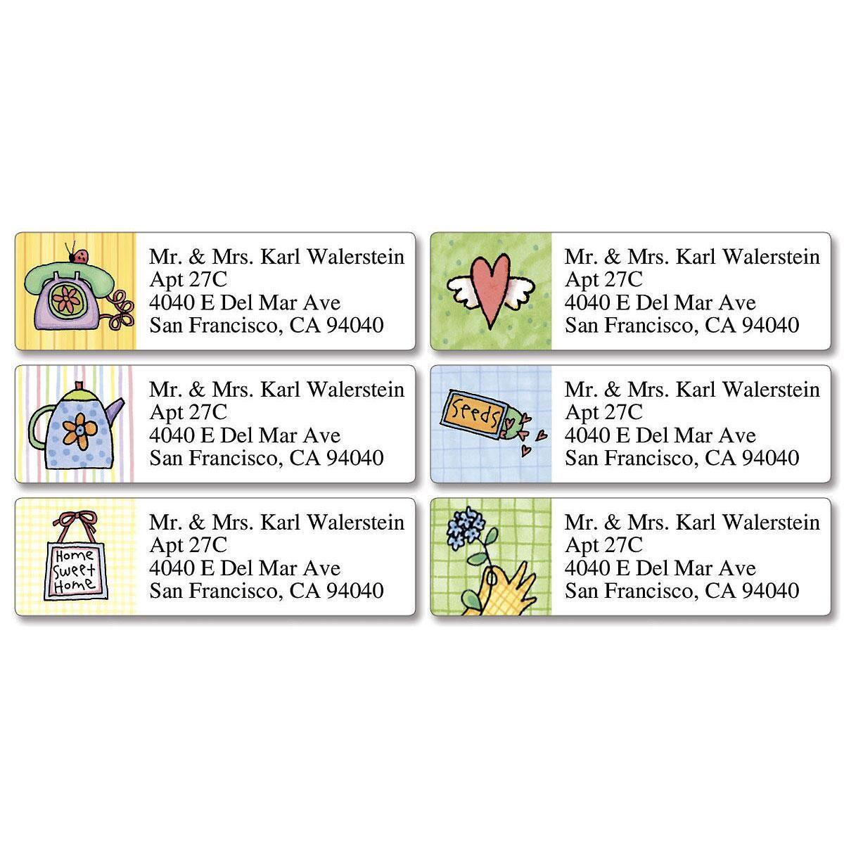 Sue Dreamer Classic Address Labels  (6 Designs)