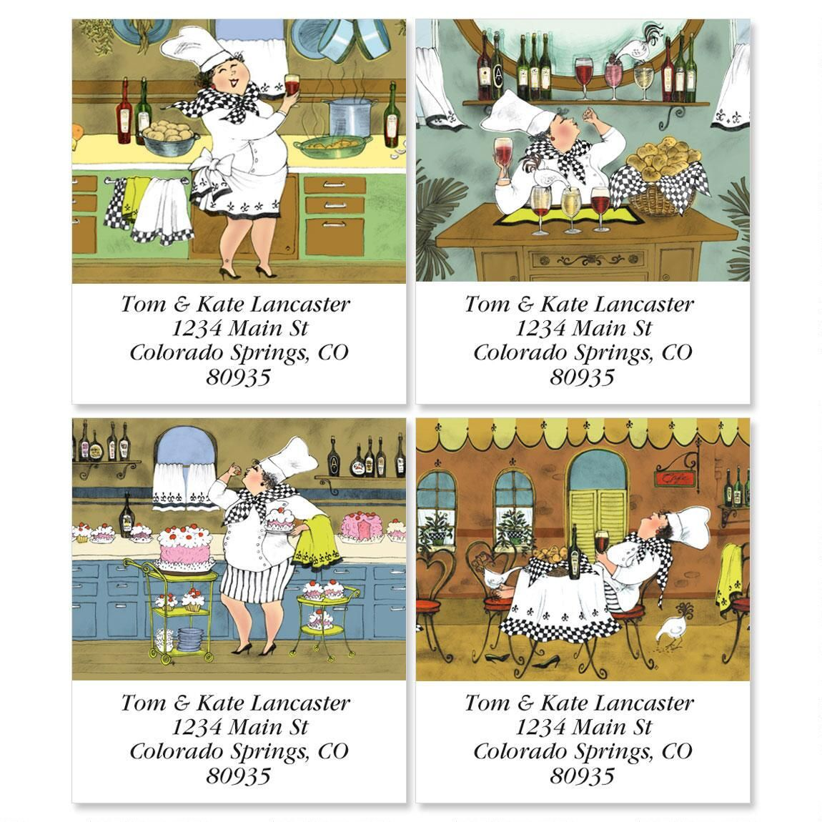 Gourmet Select Return Address Labels  (4 Designs)