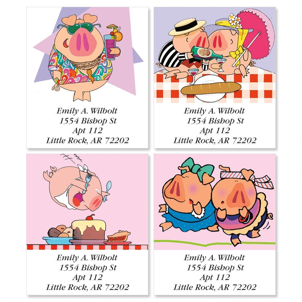 Harrison & Friends Select Address Labels  (4 Designs)