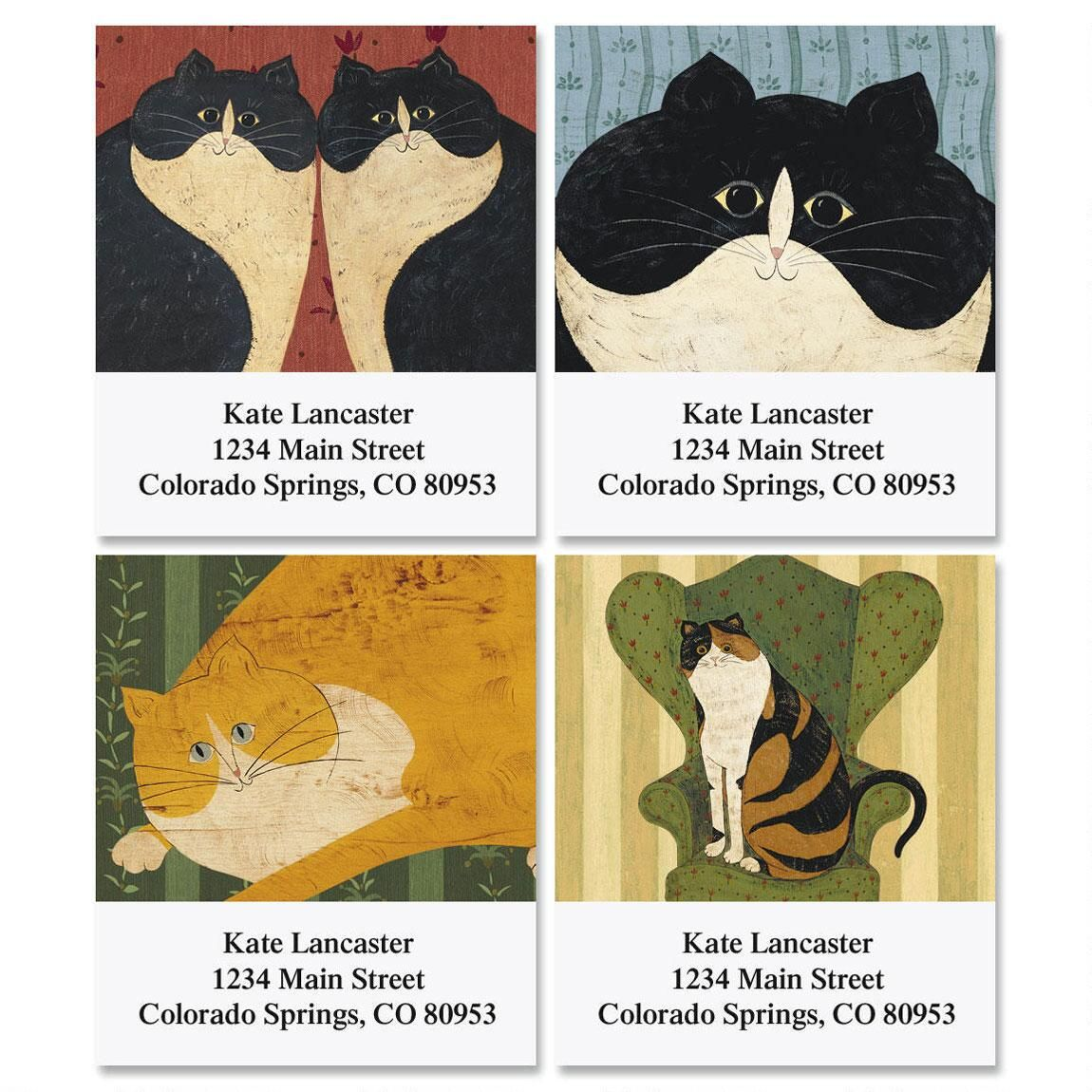 Warren Kimble's Cozy Cats Select Return Address Labels   (4 Designs)