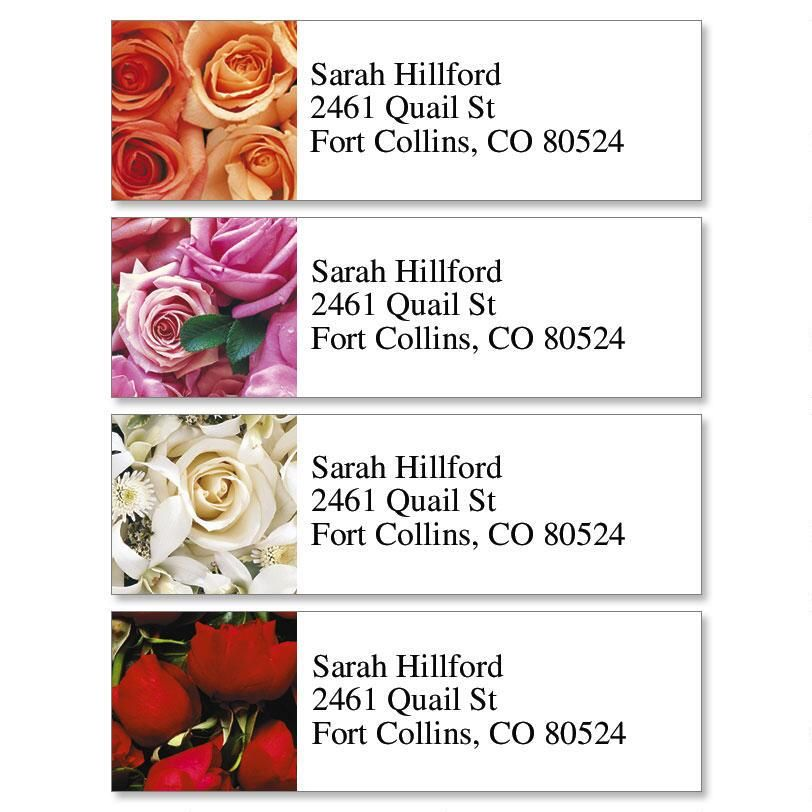 Bed of Roses Classic Return Address Labels  (4 Designs)