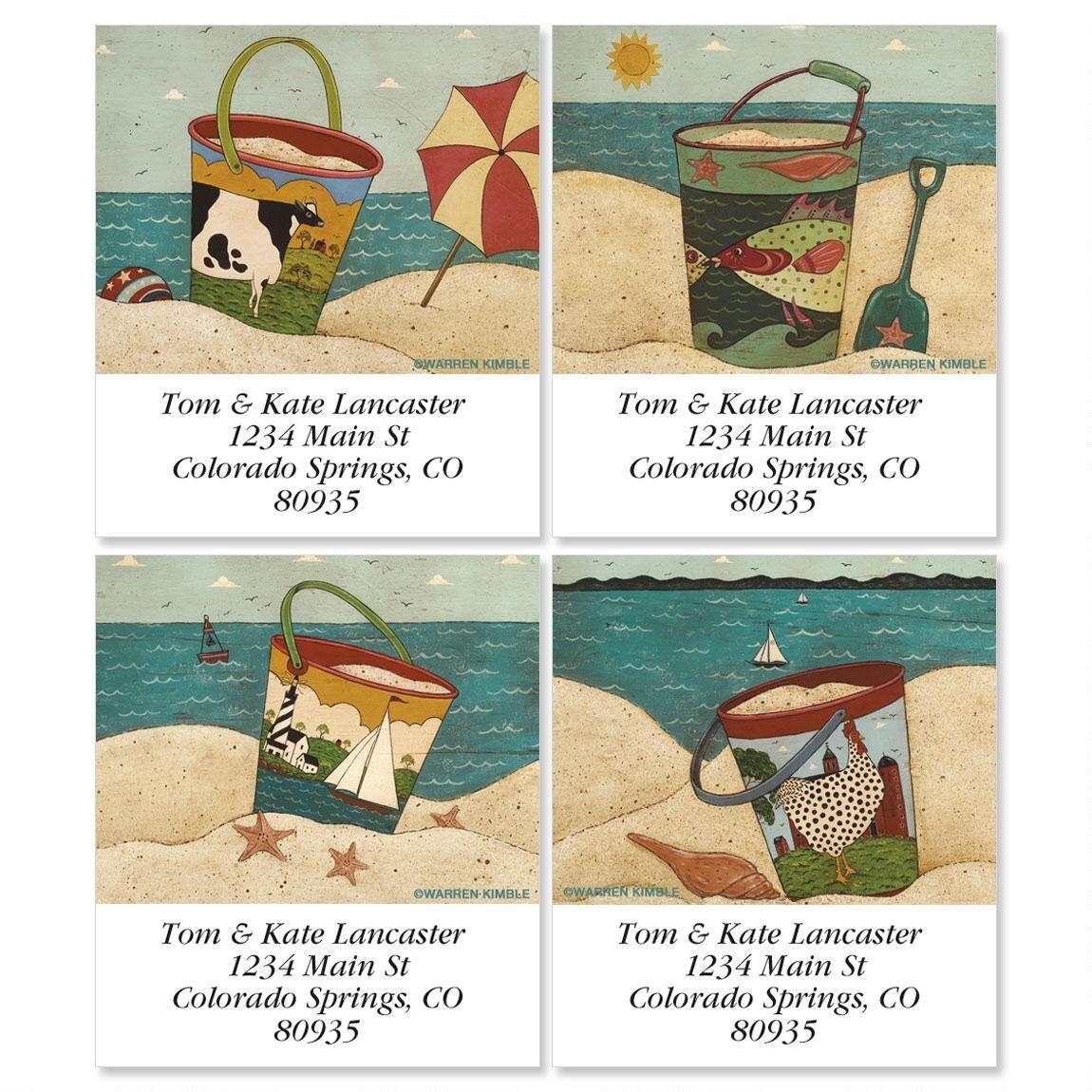 Warren Kimble's Sand Pails Select Address Labels  (4 Designs)