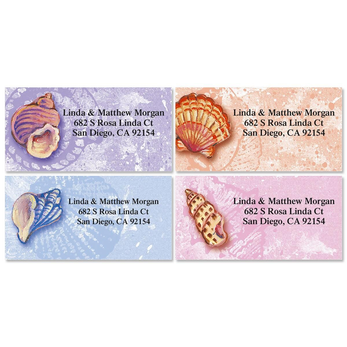 Ocean Jewels   Border Return Address Labels   (4 Designs)