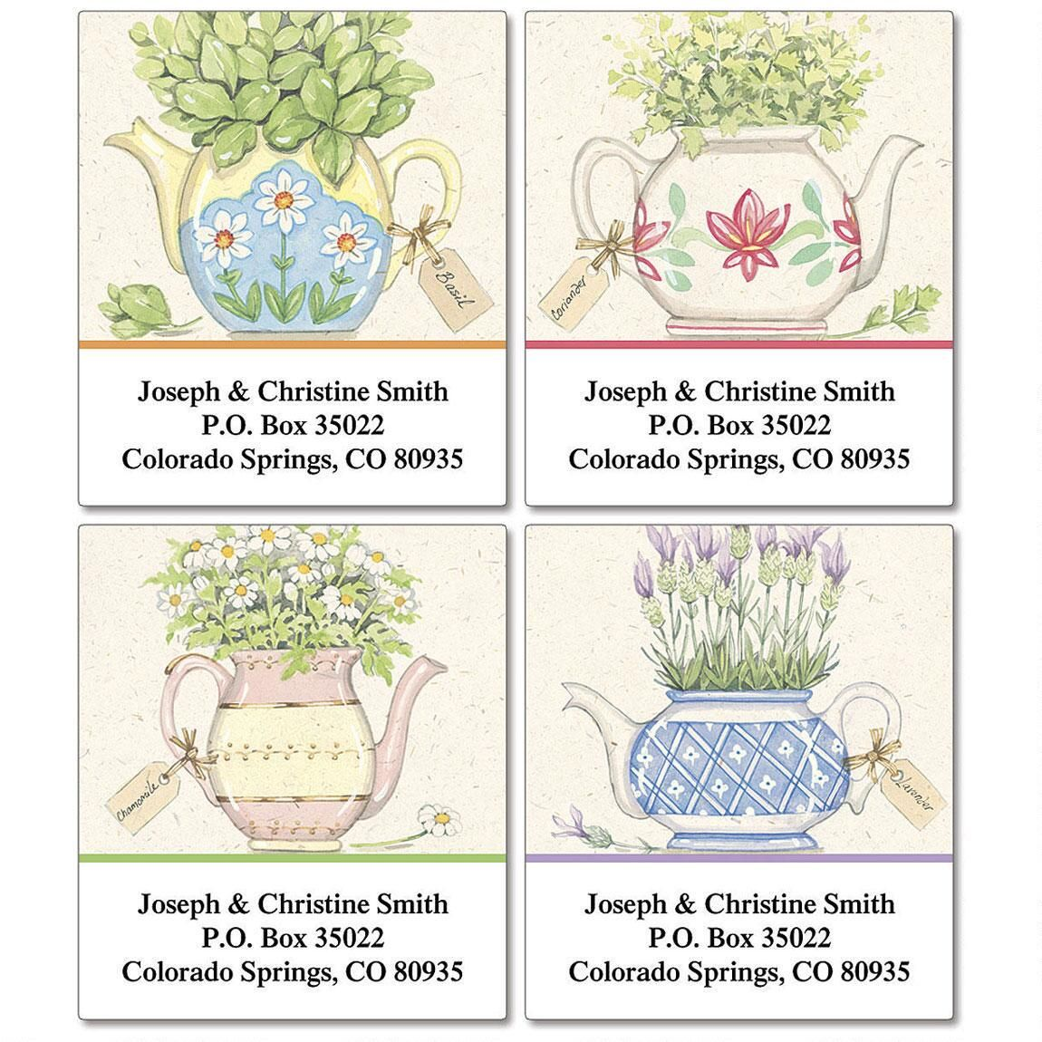 Herbal Tea Select Address Labels  (4 Designs)