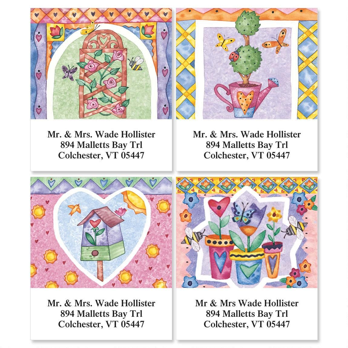 Garden's Gate   Select Address Labels  (4 Designs)